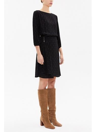 Societa Belden Bağlamalı Mini Elbise 93170 Siyah
